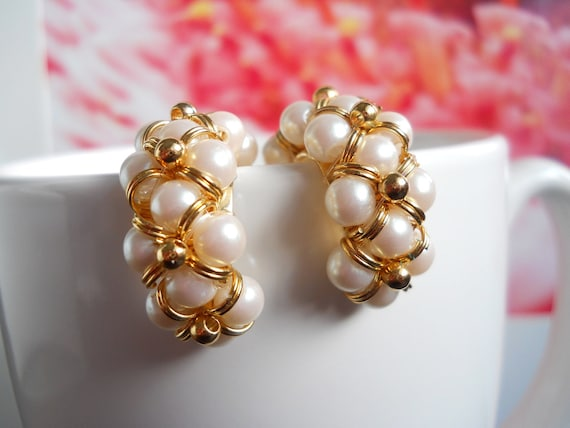 Vintage Avon Faux Pearl Fashion Earrings