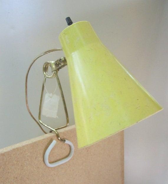 RESERVED for KBURNEYMid Century Modern Cone Clip Desk Light