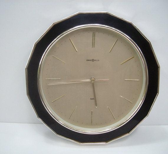 vintage howard miller wall clock electric