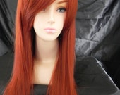 Copper Red / Long Straight Layered Wig