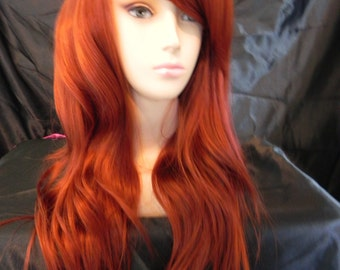 Copper Red / Long Wavy Layered Wig
