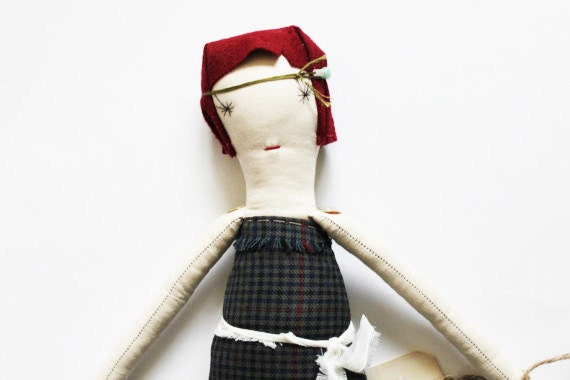SALE Elsa Ragdoll: Handmade from Vintage and Recycled Materials