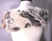 White and Cream Rabbit FAUX Fur / Stole