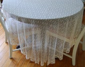 Vintage Lace 84X56 Oval Table Cover Free Ship in US