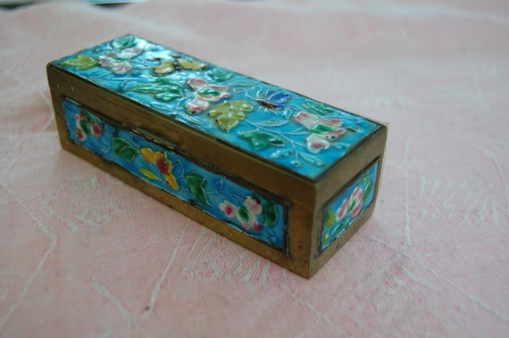Christmas Special  VTG  Chinese Stamp Box FREE Ship in US