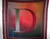 "Vintage Large 30x30 Christian Dior Square Silk ""D"" Scarf"