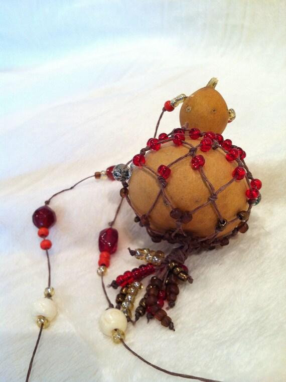 Beaded Gourd Shaker Necklace