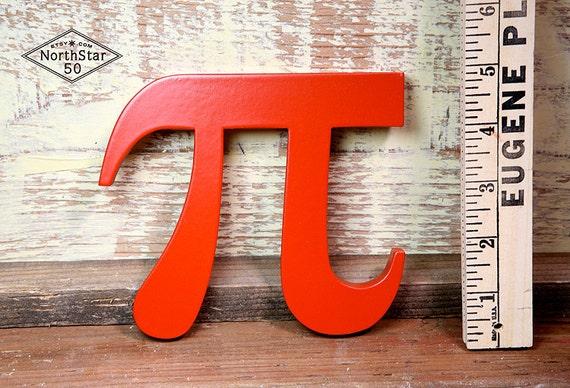 "Mathmatical ""pi"" Symbol - Wood Letter"
