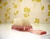 Vintage Soft Pink Jewelite Baby Brush