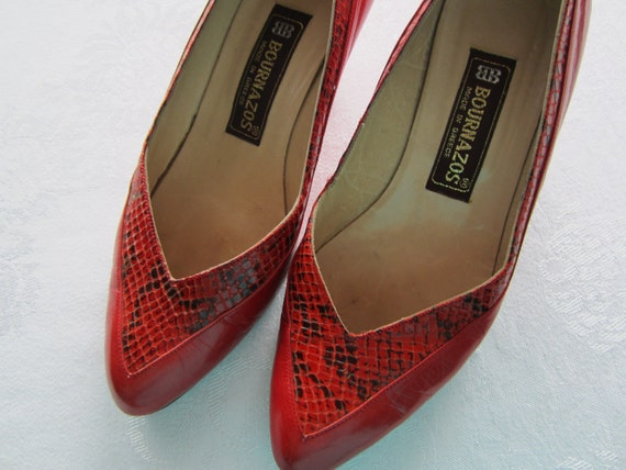 Vintage Shoes 80s Bournazos, Size 36 (Euro), 6 (US, Can)