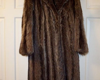 RACOON FUR coat - REDUCED for sale