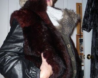 REAL Leather motorcycle jacket with fur 2 sided reduced again