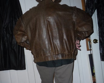 Leather jacket for men in brown tone - Clearance