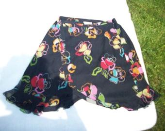 Emporio Armani skirt flowers on black REDUCED