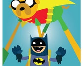 Adventure Time Superhero Print