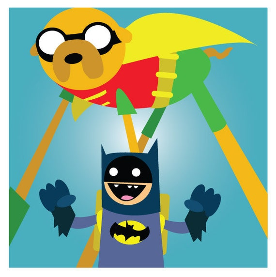Adventure Time Superheroes Adventure Time Superhero Print