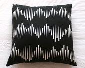 Black Wave One - Cushion Cover - 40cm x 40cm