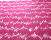 Wave One on Hot Pink - Hand Screen Printed fabric