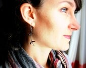 Copper and Silver Earrings, SPRIG shape