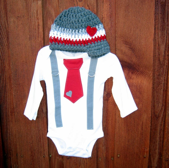 Items Similar To Valentines Day Baby Boys Tie Get The Set