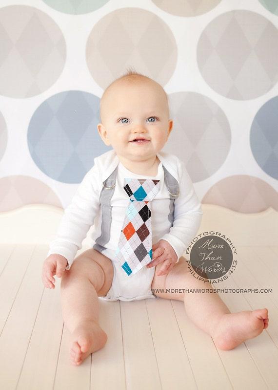 Baby Boy Tie Bodysuit and Suspender Bodysuit. Any Tie. Spring, Summer, Childrens Fashion.