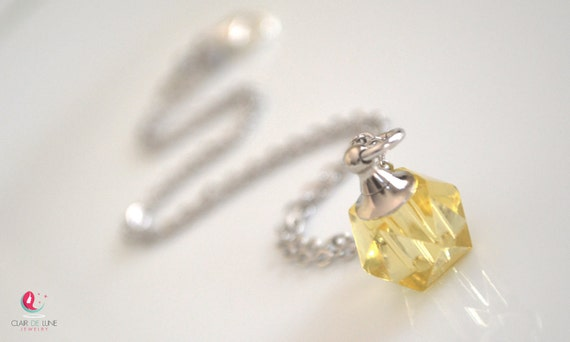Crystal Vial Necklace Inspired by Romeo and Juliet