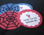 Spiderman Party Favor Tags