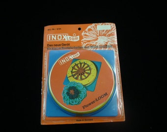 1970s Retro INOX FLower Loom with Adjustable Pegs in Original Package