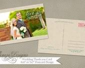 Wedding Thank You Card Photoshop Template - Item TC005