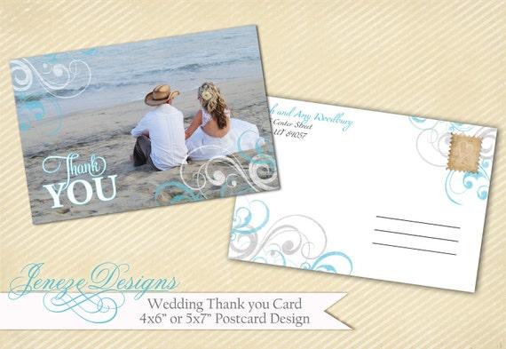 Wedding Thank You Card Template - Item TC002