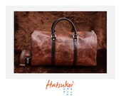 100% genuine dark brown cow leather travel bag ll ready to ship item