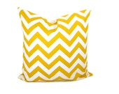 Yellow Pillow Chevron Pillow Cover Decorative Yellow Pillows Light Yellow Pillow Lumbar Pillow Cover Travel Pillow Printed fabric both sides