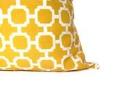 Yellow Pillow Decorative Throw Pillows 20x20 Pillow Bright Yellow Pillows Yellow Pillow Cover 20 x 20 Printed Fabric both sides Housewares