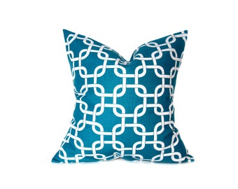 Decorative Pillows - Turquoise Pillow - Pillows - 20x20 pillow covers - aqua pillow - throw pillows - accent pillow - throw pillow covers