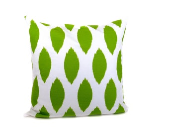 Pillow - throw Pillow Covers - Pillow covers - Green Pillows - green pillow cover - ikat pillow - throw pillows - Decorative pillows