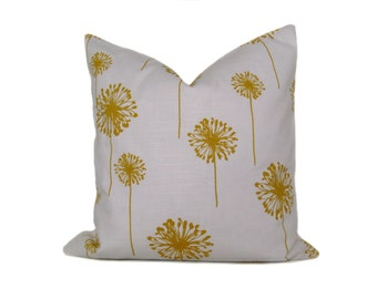 Yellow.Pillow.Throw Pillow Cover 20x20 .Decorative Pillow Cover.Printed Fabric both sides Home Decor. Housewares. Dandelion Accent Pillow Cm