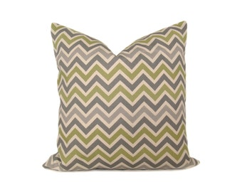 Gray Pillow. Chevron Pillow.20X20 inch.Decorative Pillow Covers.Printed Fabric front and back.Housewares.Cushions.Home Decor