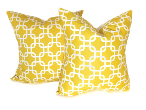 Pale Yellow Decorative Pillows : SALE Decorative Yellow Pillows Light Yellow Pillow by EastAndNest