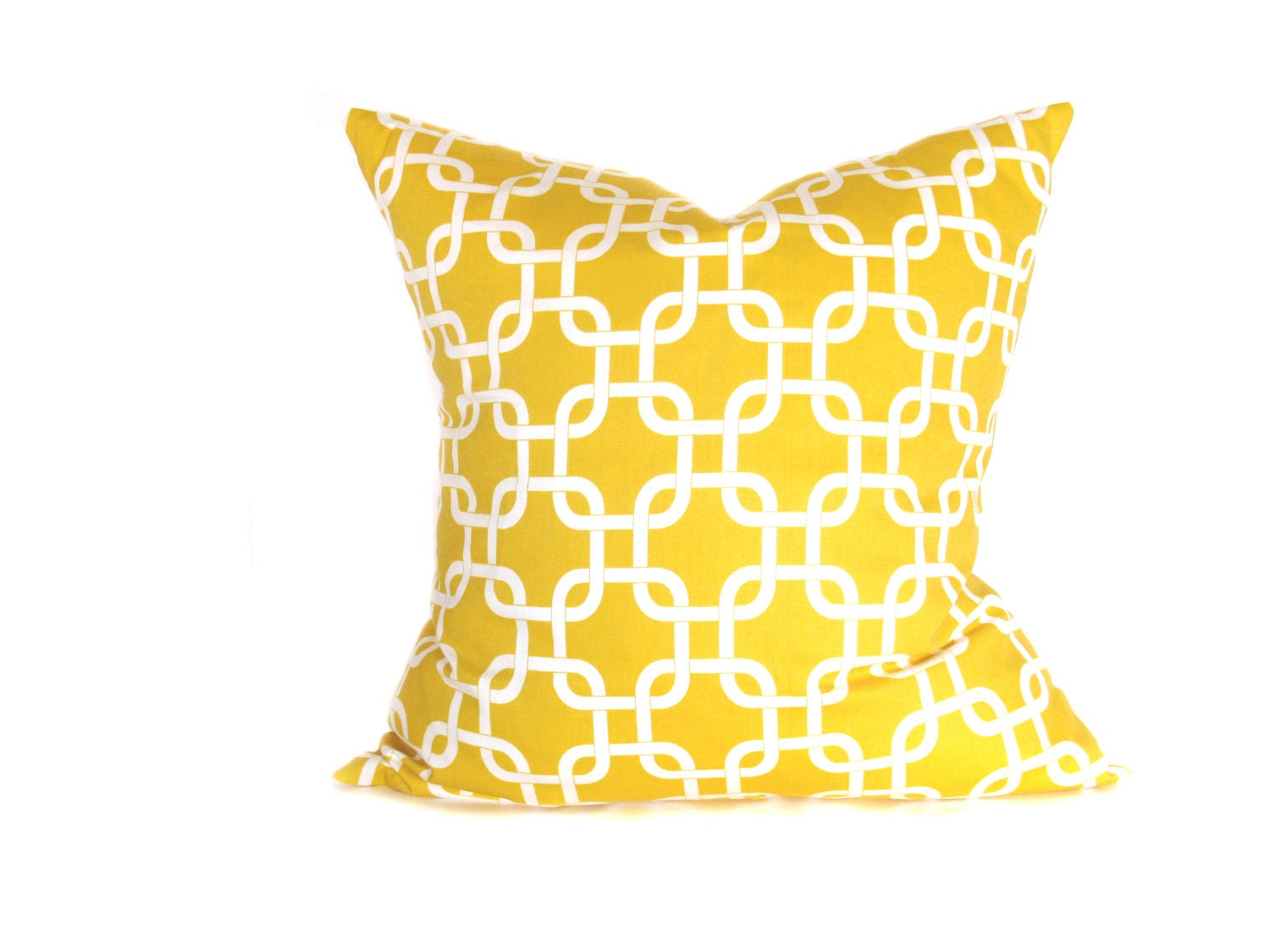 Yellow pillow cover decorative throw pillow throw by eastandnest - Whiten yellowed pillows ...