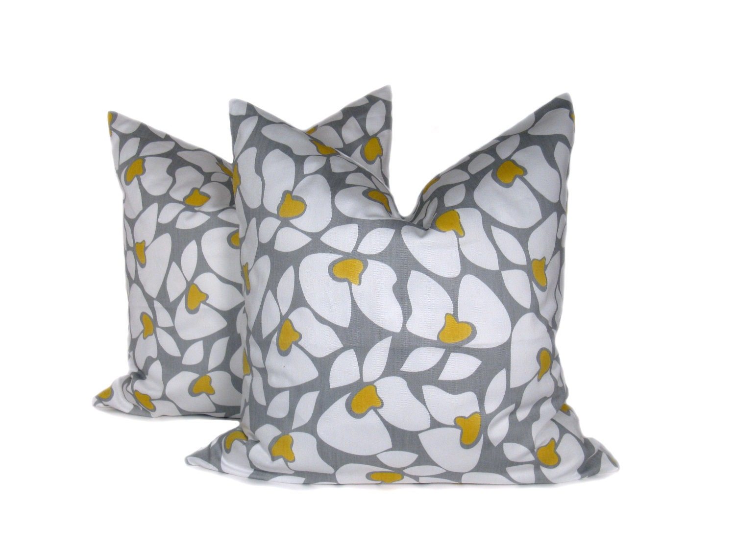 Decorative Throw Pillows Yellow Gray Pillow Throw by EastAndNest
