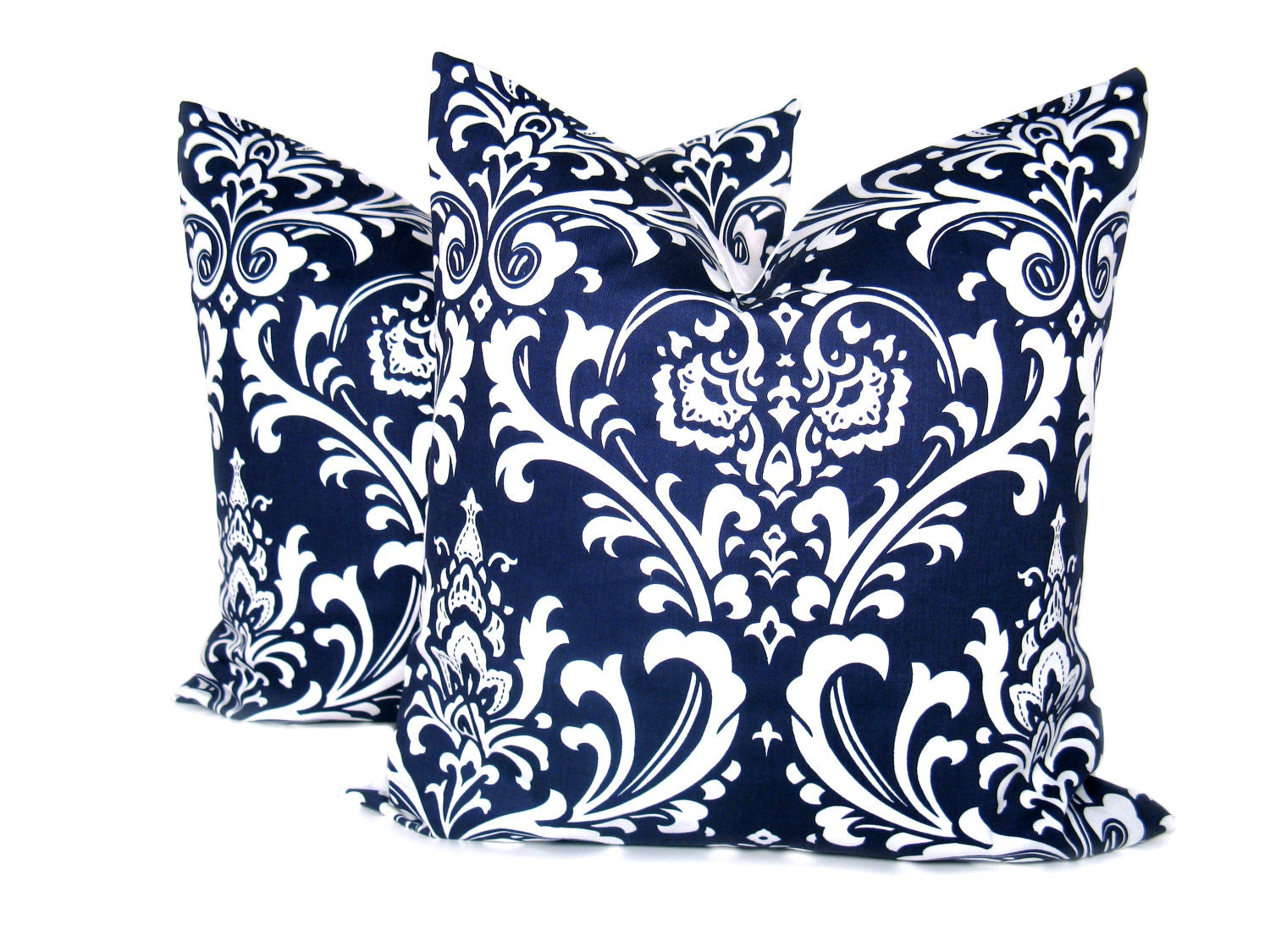Navy Throw Pillow Sets : Blue Pillow 20 x 20 pillow cover Set of TWO Navy by EastAndNest