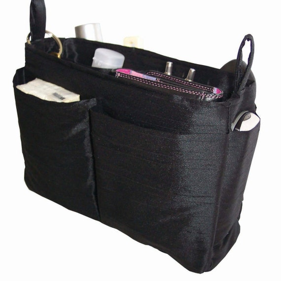 Onyx Black Purse Organizer