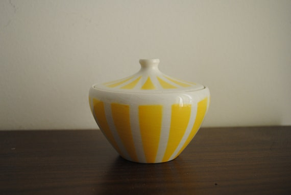 Vintage Italian Sugar Bowl Porcelain Tognana 1950s 1960s