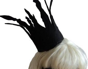 HALLOWEEN LADY GAGA inspired black crown bad romance. Fancy dress, black Gothic crown