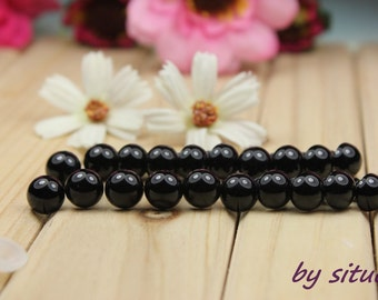 10 pairs 9 mm solid Black  Doll Eyes Safety Eyes for Amigurumi or Stuffed Animal
