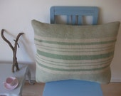 Warm woolen cushion cover made from recycled vintage woolen blankets