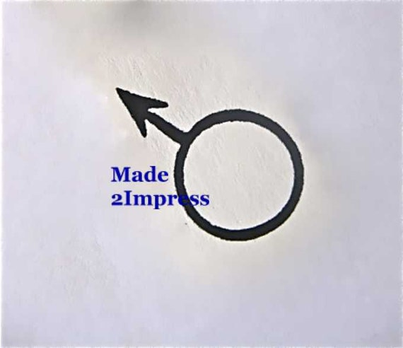 Rubber Stamp Male Symbol Female Sign