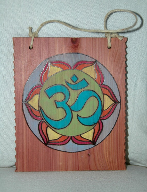 Wall Plaque - Om Wood Wall Plaque