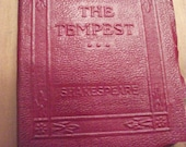 Little Leather book - The Tempest by Shakespeare - 1920s