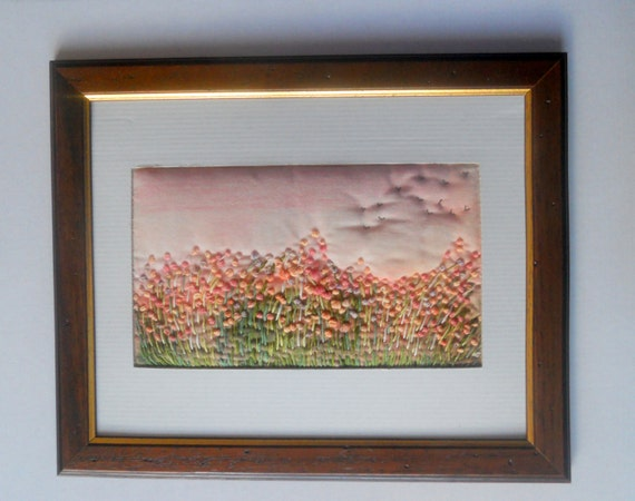 Embroidery  painting   Fabric pictures  and  hand embroidery.  Custom order for Diane